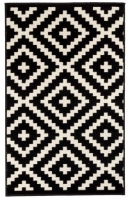 Covor Decorino Modern & Geometric Pambus, Negru/Alb, 160x230 cm