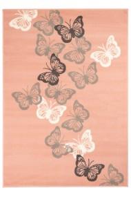 Covor Decorino Copii & Tineret Grip, Roz/Gri/Alb, 80x150 cm