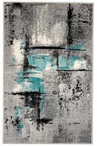 Covor Decorino Modern & Geometric Barad, Gri/Albastru, 80x150 cm