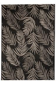 Covor Decorino Floral Cordoba, Negru/Gri, 60x110 cm