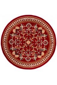 Covor Decorino Floral Rossalis, Rosu/Alb/Bej, 160x160 cm