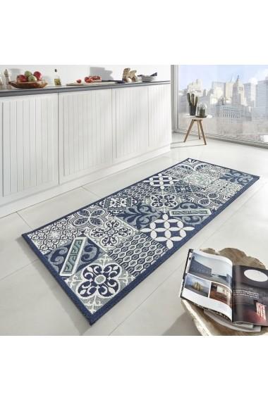 Covor Zala Living Bucatarie Modern & Geometric Soho Albastru 80x200 cm