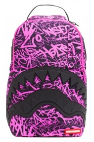 Rucsac Sprayground Pink Scribble Shark Roz - Sticker Cadou