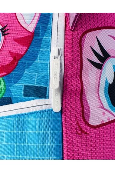 Rucsac Sprayground Ski Mask Kitten Roz si Albastru - Sticker Cadou