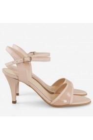 Sandale cu toc din piele naturala nude Jinx   Dianemarie S66 nude