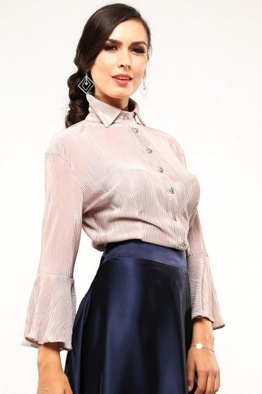 Camasa eleganta cu maneci evazate Perla Notte - Cardinale Rosa nude-rose DUO-CR0032PN