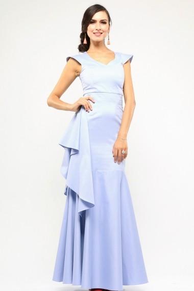 Rochie lunga de eveniment - Cinderella Dream - Cardinale Rosa bleu, ciel