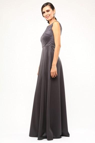 Rochie lunga de eveniment - Evening Shine - Cardinale Rosa gri, argintiu
