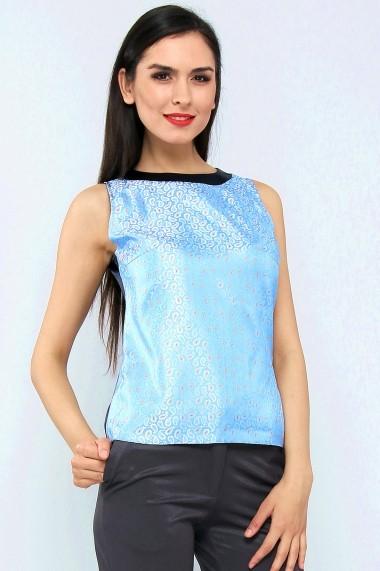 Top elegant din jaquard de matase - Azzuro Dolce - Cardinale Rosa bleu