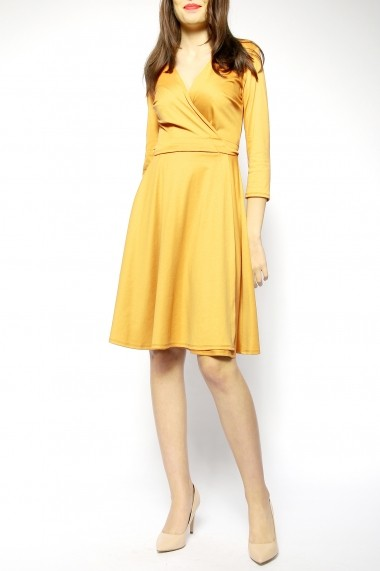 Rochie petrecuta jerse Yellow Mood - Sweet Rose of Mine galben