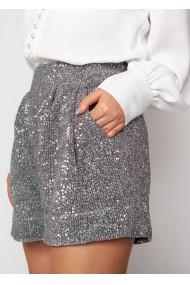 Pantaloni scurti ClothEGO din paiete, Argintii