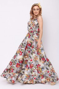 Rochie lunga ClothEGO, Print floral