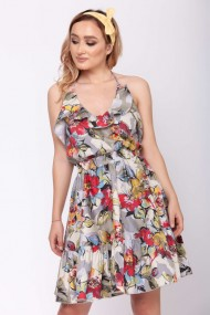 Rochie scurta ClothEGO, Print floral