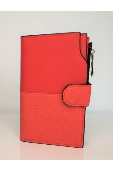 Portofel de dama din piele ecologica AB2035M rosu