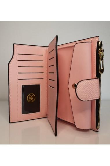 Portofel de dama din piele ecologica AB2035M roz