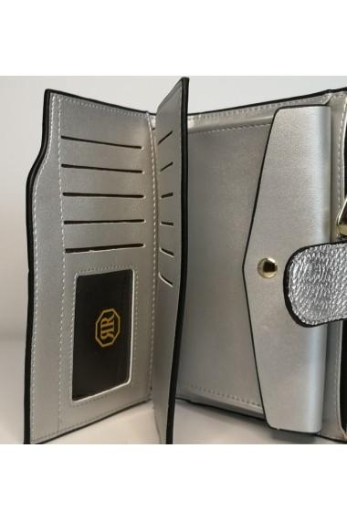 Portofel de dama din piele ecologica AB2035M silver