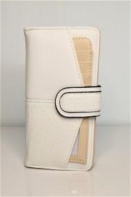 Portofel de dama din piele ecologica AB601 alb
