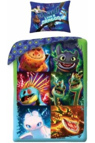 Lenjerie de pat pentru copii Dragoni 140×200cm, 70×90 cm - Dragoni