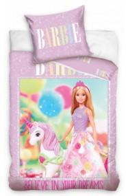 Lenjerie de pat fete Barbie 140×200cm, 70×90 cm - Barbie