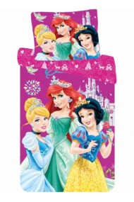 Lenjerie de pat fete Princess 140×200cm, 70×90 cm - Princess