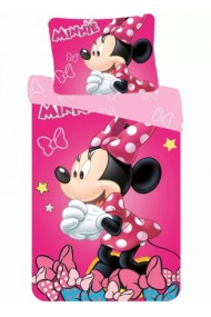 Lenjerie de pat fete Minnie Mouse140×200cm, 70×90 cm - Minnie Mouse