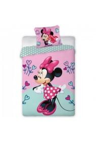 Lenjerie de pat pentru copii Disney Minnie, roz cu bleu