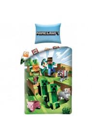 Lenjerie de pat pentru copii Minecraft, multicolora