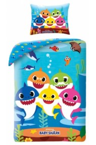 Lenjerie de pat pentru copii Baby Shark140×200cm, 70×90 cm - Baby Shark