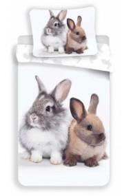 Lenjerie de pat pentru copii Iepurasul Bunny 140×200cm, 70×90 cm - Iepure