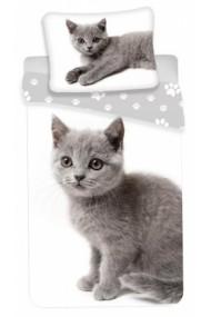 Lenjerie de pat pentru copii Pisica 140×200cm, 70×90 cm - Pisica