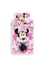 Lenjerie de pat pentru copii Disney Minnie. roz