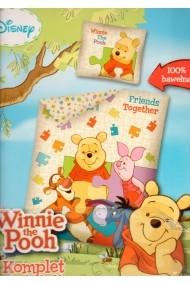 Lenjerie de pat Winnie the Pooh marime 140×200 cm 80x80 cm