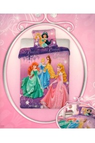 Lenjerie de pat licenta Disney Princess marime 160×200 cm 70x80 cm