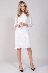 Rochie de zi EMA T Concept din dantela alba