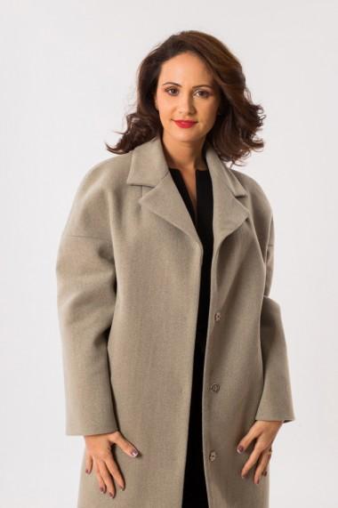 Palton gri din lana EMA\T Concept Angel Investor