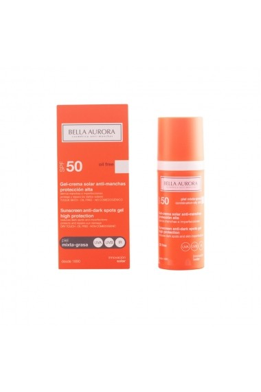 Gel Bella Aurora Solar anti-pete pigmentare FPS 50 ENG-79939