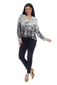 Блуза Eranthe ERT-V162 Бял / Черен