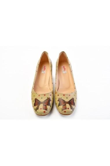 Pantofi cu toc Goby DB201 multicolor