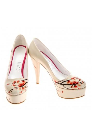Set pantofi cu toc si clutch Goby ST7005 multicolor