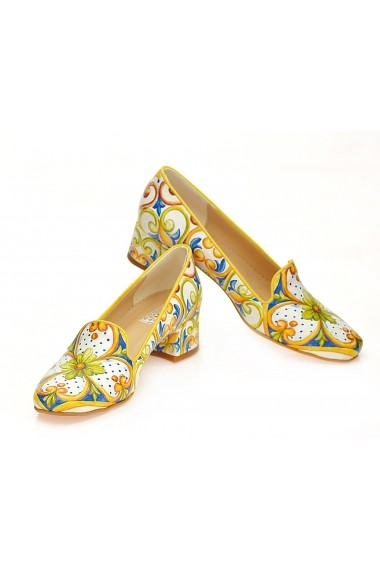 Pantofi cu toc Goby WDB106 multicolor