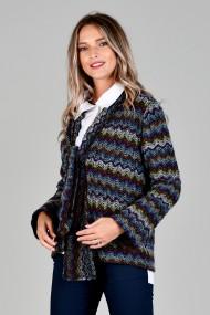 Jacheta din amestec lana Mov