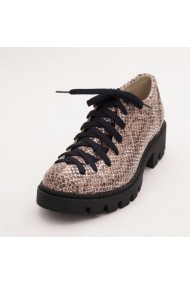 Pantofi piele naturala, Fashion Loft animal print cu siret