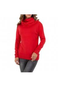 Pulover dama casual, culoarea rosie