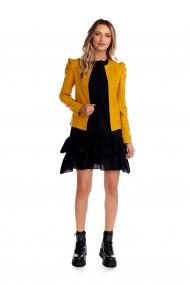Geaca Fashion Loft mustar casual scurta din piele ecologica
