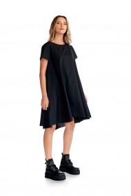 Rochie cu buzunare lateral Fashion Loft casual neagra