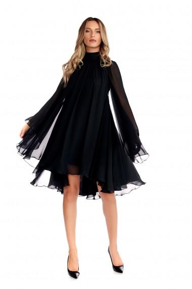 Rochie de ocazie Fashion Loft spate gol culoarea neagra