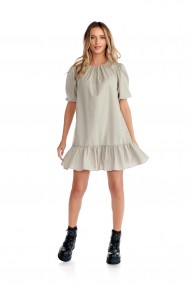 Rochie casual Fashion Loft scurta din bumbac culoarea gri