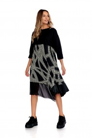 Rochie lunga Fashion Loft,casual maneci lungi marime universala culoarea neagra