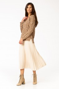Pulover Sense tricotat Sarah maro
