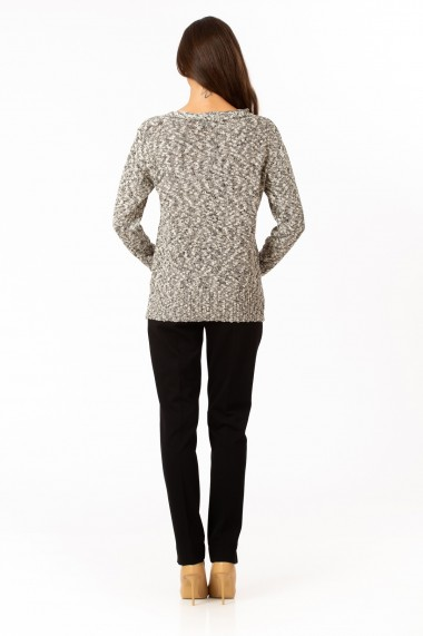 Pulover Sense tricotat Sarah negru